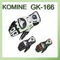 2016 nova titanium liga komine motocicleta luvas de corrida de moto equitação luva de couro GK-166 3 cor tamanho M L XL XXL