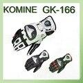 2016 nuevo titanium de la aleación komine motociclismo guantes de montar en moto guante de cuero GK-166 3 color tamaño Ml XL XXL