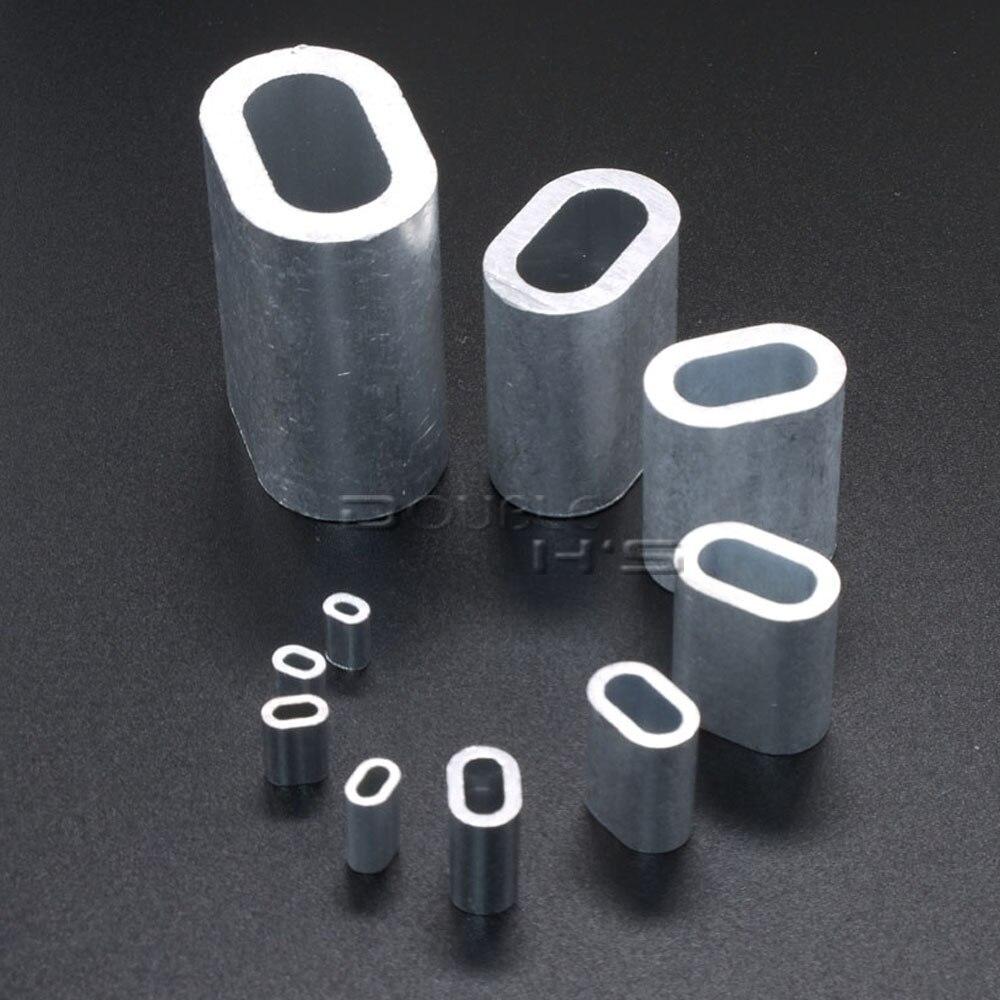 50 teile/los Aluminium Kabel Crimp Hülse Kabelhülse Stop für Snare ...