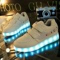 2016 Primavera Crianças Sneakers Enfant Moda USB Charginh Luminous Iluminado luzes LED Coloridas sapatos Meninas Menino Crianças Sapatilha