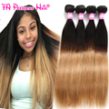 8A Unprocessed Brazilian Hair Straight 4 Bundle Cheap 1B 27 Ombre Blonde Brazilian Hair 30 Inches Brazilian Straight Sterly Hair