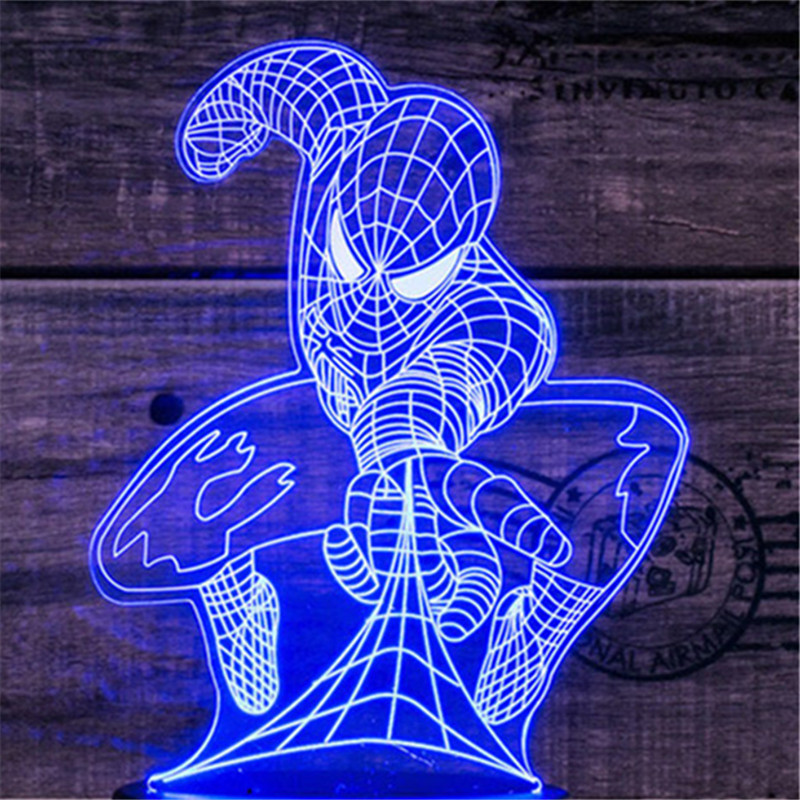 3D Led Lighting Creative Gift Night Light Usb Touch Switch Table Lamp Spiderman Light Led Home Corridor Hotel Party Atmosphere L