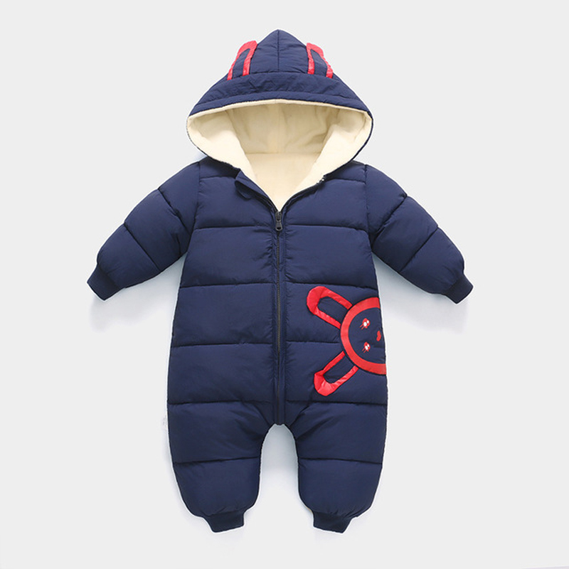 HYLKIDHUOSE 2018 Winter Baby Girls Boys Rompers Infant Newborn Jumpsuits Hooded Warm Windproof Thicken Toddler Children Costume baby boys girls rompers 2017 winter long sleeve printed thicken infant bodysuits hooded keep warm unisex newborn kids outerwear