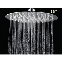 Newly US Free Shipping Round Rain Shower Head 304 Stainless Steel Top Sprayer 10 Wall Ceiling