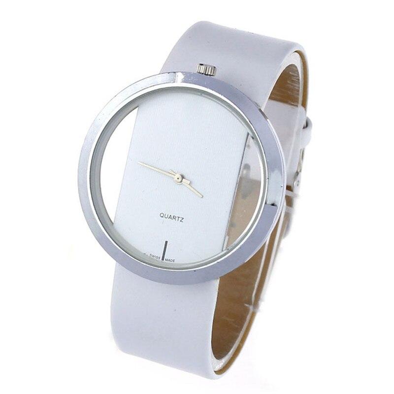 Fashion Clock Time Women PU Le...
