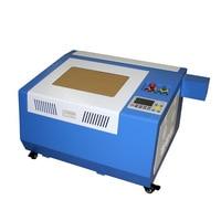Ly 50 w desktop laser 3040 pro co2 máquina de corte a laser com eixo rotativo e favo mel máquina de gravura em madeira