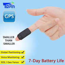 Topin Mini GPS Tracker D3 Hidden LBS Locator GSM Voice Recorder Vibration Alarm SMS Tracking iOS Android APP for Kids Cars Pet