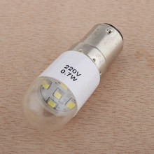Clear Led-lampen Voor Thuis Naaimachine 0.7W 220 Volt Push In Type(China)