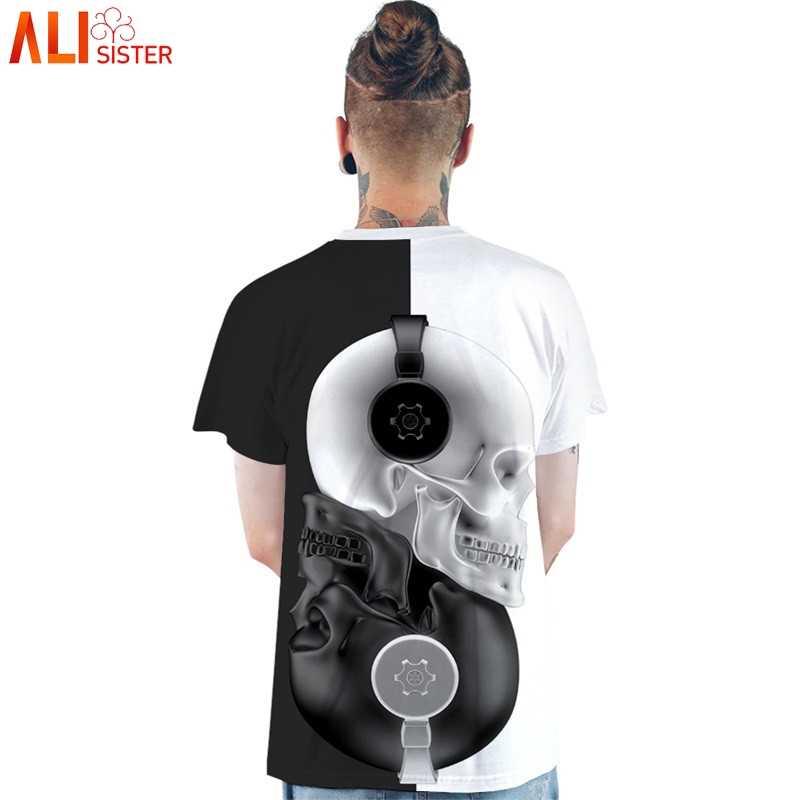 Харадзюку череп печати T Shrit для мужчин и женщин 3d летние футболки короткий рукав хип хоп Уличная унисекс пара топы Camisetas Hombre