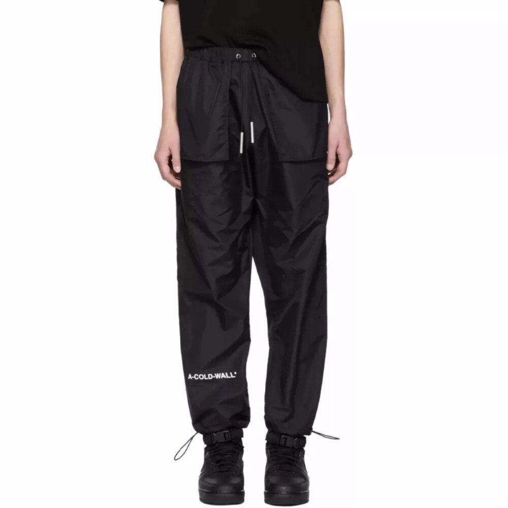 19SS dernier hip-hop kanye west ACW A-COLD-WALL pantalon hommes femmes poches Streetwear pantalons de survêtement pantalons décontractés pantalon 2 style