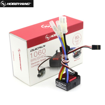 HobbyWing QuicRun Brushed 1060 60A Electronic Speed Controller ESC 1060 With Switch Mode BEC For 1:10 RC Car hubsan x4 pro h109s a esc electronic speed controller with cable