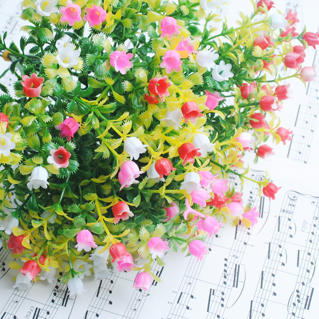1pc fake plants home table silk artificial flowers mimi milan Silk Fake Plants