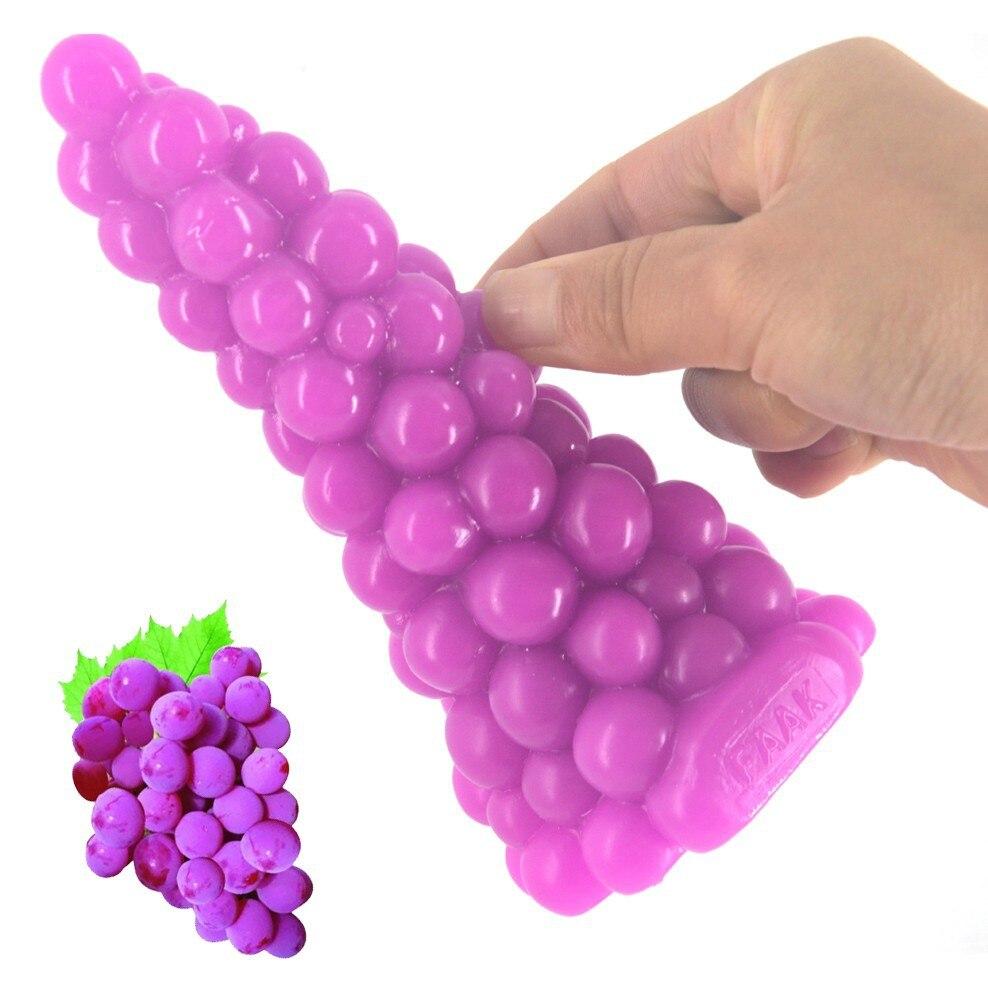 AUSEXY dildo grape skin masturbation device simulation penis adult supplies selling anal plug penis For women females