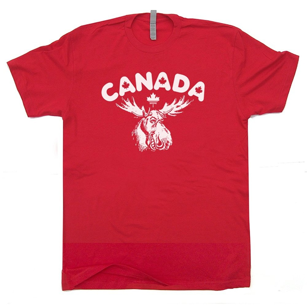 Shirt design toronto - Canada Moose T Shirt Retro Maple Leafs Tee Bullwinkle Toronto Vancouver Rocky And Canadian Wally World