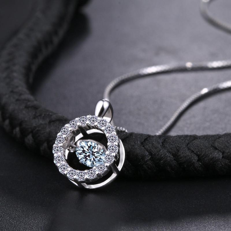 Collar de plata 925 cristalino de la manera europea colgantes - Joyas - foto 2