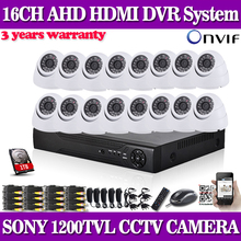 Home cctv dvr system 16ch 960h dome sony 1200tvl security camera system dvr kit 16channel H.264 CCTV DVR recording System