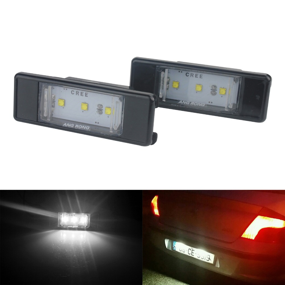 LED Licence Number Plate Light Peugeot 106 207 208 307 308 407 Citroen C2 C4 C6