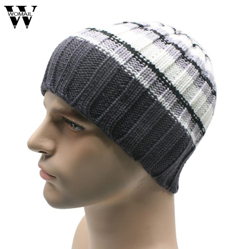 2017 Winter Unisex Women Men Knit Ski Crochet Slouch Hat Cap Beanie Hip-Hop Hat Solid pentacle star warm skull beanie hip hop knit cap ski crochet cuff winter hat for women men new sale