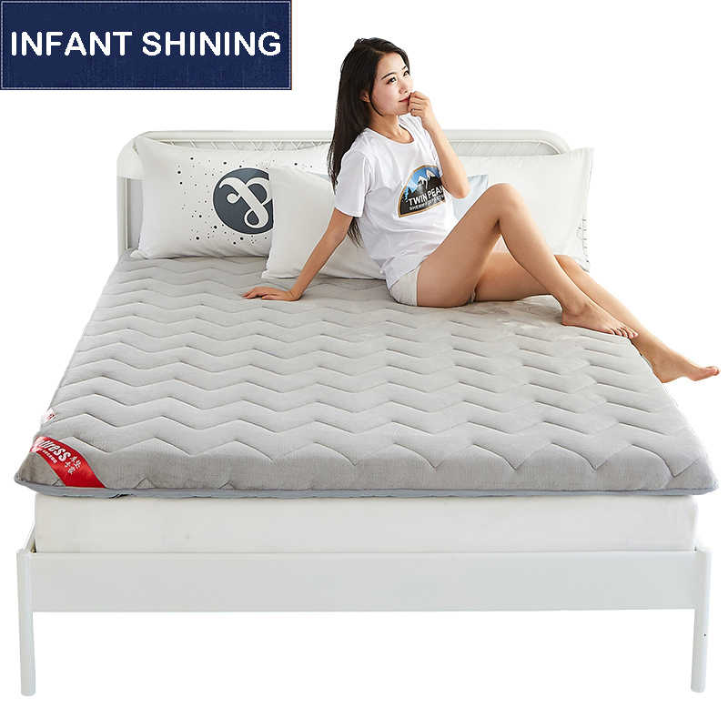 Infant Shining Thickening Flannel Mattress 5CM Thickness Mattress Tatame Mat Student Dormitory Single Mat Eco-friendly Mattress