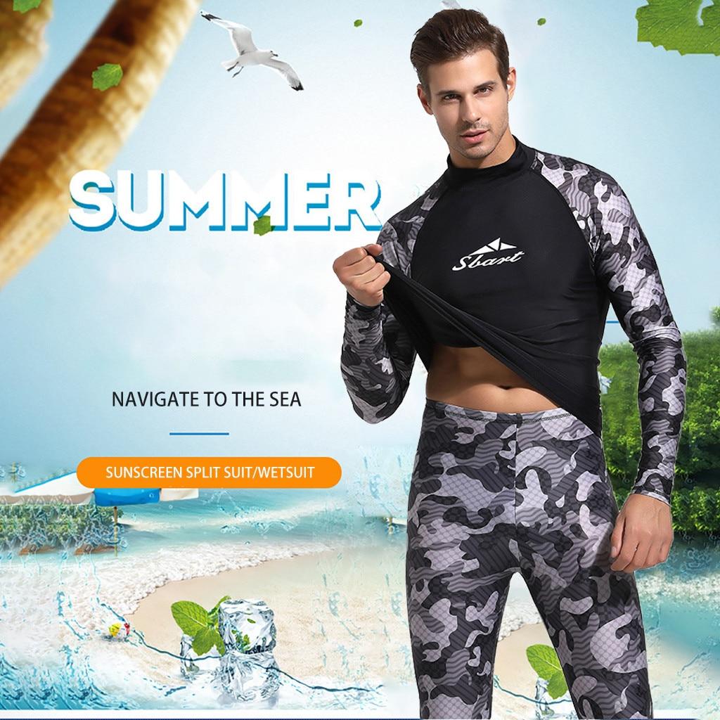 2019 Surf Suit Diving Wetsuit 3mm Breathable Anti-ultraviolet Men Spearfishing Snorkel Swimsuit Split Suits Wetsuits