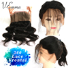 Body Wave 360 Lace Frontal 7A Brazilian Hair Frontal Pre Plucked 360 Lace Band Frontal Closure With Baby Hair