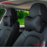 For Mazda CX 3 CX 5 CX 7 CX 9 / 2pcs/set Car Leather Neck Pillow / Auto Seat Cover Head Neck Rest Cushion Headrest Pillow