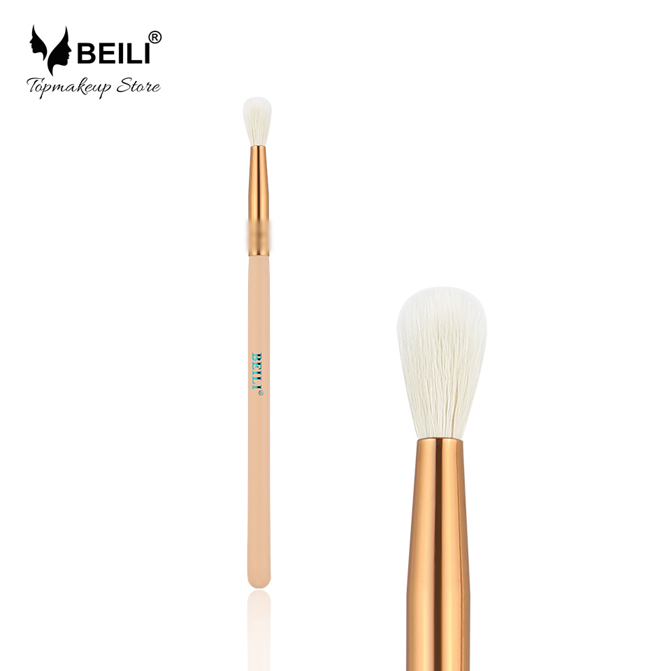 Enobarvna ščetka za ličila BEILI Natural Goat Hair Rose Golden Golden Eye Shade Blending Single Makeup Brush