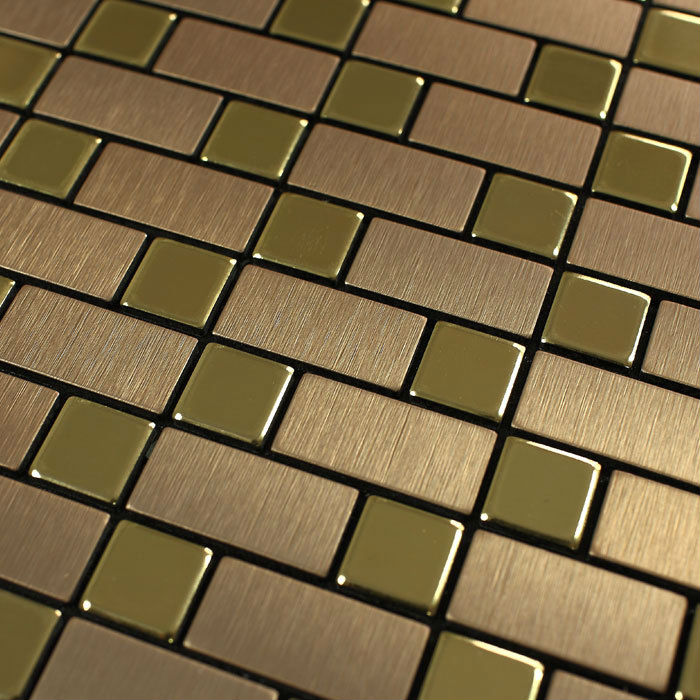 metallic tiles kitchen metallic tile wall stickers brushed interlocking mosaic 4104