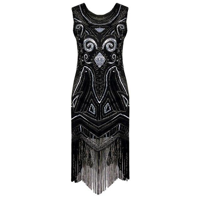 Lohill Women Las Fler Dresses 1920s Beaded Fringed Great Gatsby Fashion Dress