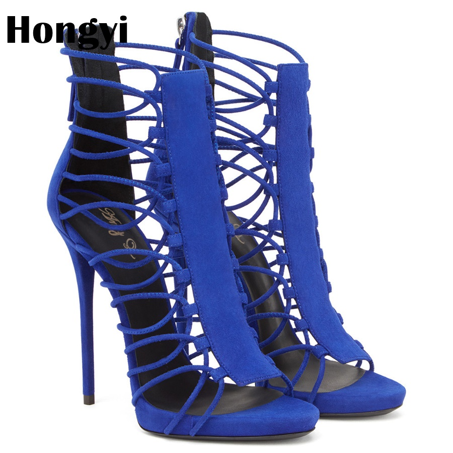 Hongyi new summer women high heels sandals shoes woman party wedding ladies pumps ankle strap buckle stilettos sexy shoes revise брюки капри
