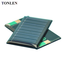 TONLEN 10PCS 5 V Epoxy Solar Panel  30mA 0.15W Cheap Solar Cell DIY Photovoltaic Cell Solar Battery Charger Power Bank 50*30mm mbr cell power foot