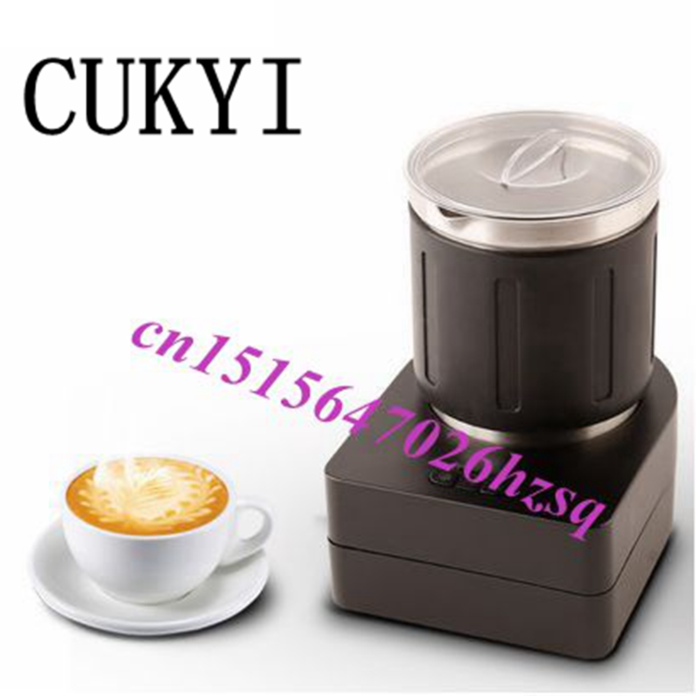 CUKYI Automatic Coffee foam milk maker machine Commercial household Cold and hot foam Stainless steel pot milk foam generator 220v fully automatic electric milk formula hot and cold milk foam machine emf2w