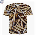 Mr.199very cool Europe and America style 3D Bullets Printed big kids t-shirt for teens boys 2017 children's tshirt  DT36