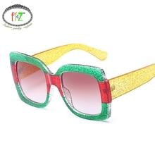 все цены на F.J4Z Stylish Brand Designer Cool High Quality Young Beautiful Square Lens Color Plastic Frame Goggle Sunglasses UV400 онлайн