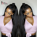 180% Density Pre Pluchked 360 Lace Frontal Wig 360 Lace Wigs 8A Brazilian Lace Front Human Hair Wigs Straight Glueless Wigs