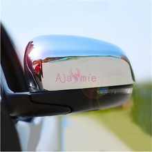 2014 2015 2016 2017 Door Mirror Cover Trims ABS Chrome 2 pcs Car Styling For Jeep Grand Cherokee Accessories chrome car styling front fog lamp cover light overlay foglight trim panel 2014 2015 2016 for jeep grand cherokee accessories