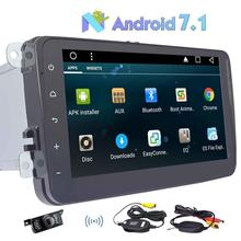 Android 7 1 Quad Core 8 Car Stereo Radio Player GPS Canbus Wireless Rear Camera for
