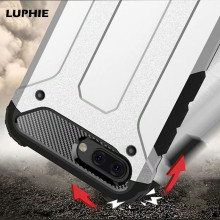 LUPHIE Hybrid Tough Shockproof Armor Phone Case For Huawei Honor 10 10Lite Luxury Rugged Impact Hard Rubber Skin Cover