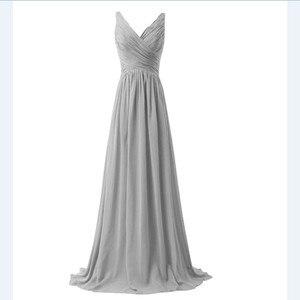 Image 4 - Lly1130t # vestidos de noiva, para festa de casamento, baile, moda feminina, decote em v, longo, com renda, azul céu