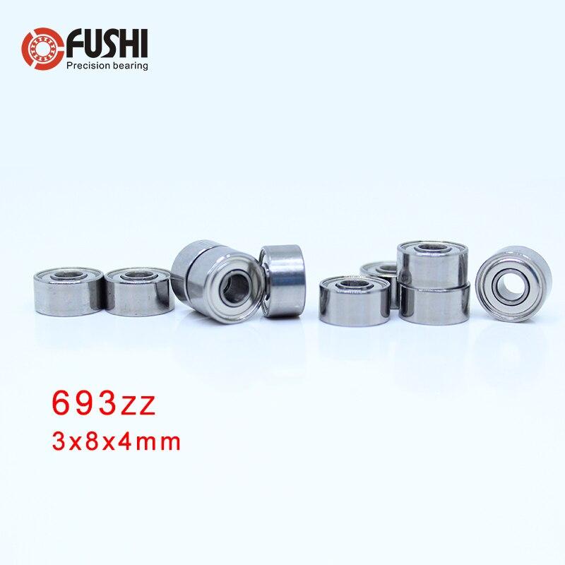 693ZZ ABEC 7 100PCS 3x8x4mm Miniature Ball Bearings 619 3ZZ EMQ Z3V3