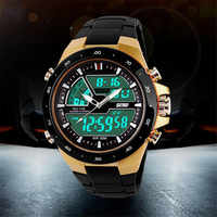 Women Sports Watches Male Dual Display Multi Function LED Sports Watch Alarm Gold Relogios Feminino Zegarki Damskie reloj led