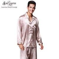 Summer Mens Faux Silk Pajama Set Brand Pajamas 2017 New Men S Pajamas Long Pants 2