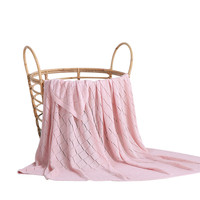 Soft Solid Bamboo Fiber Pink Adults Kids Blanket gifts TV Home Sofa Comfortable Air Travel Blanket
