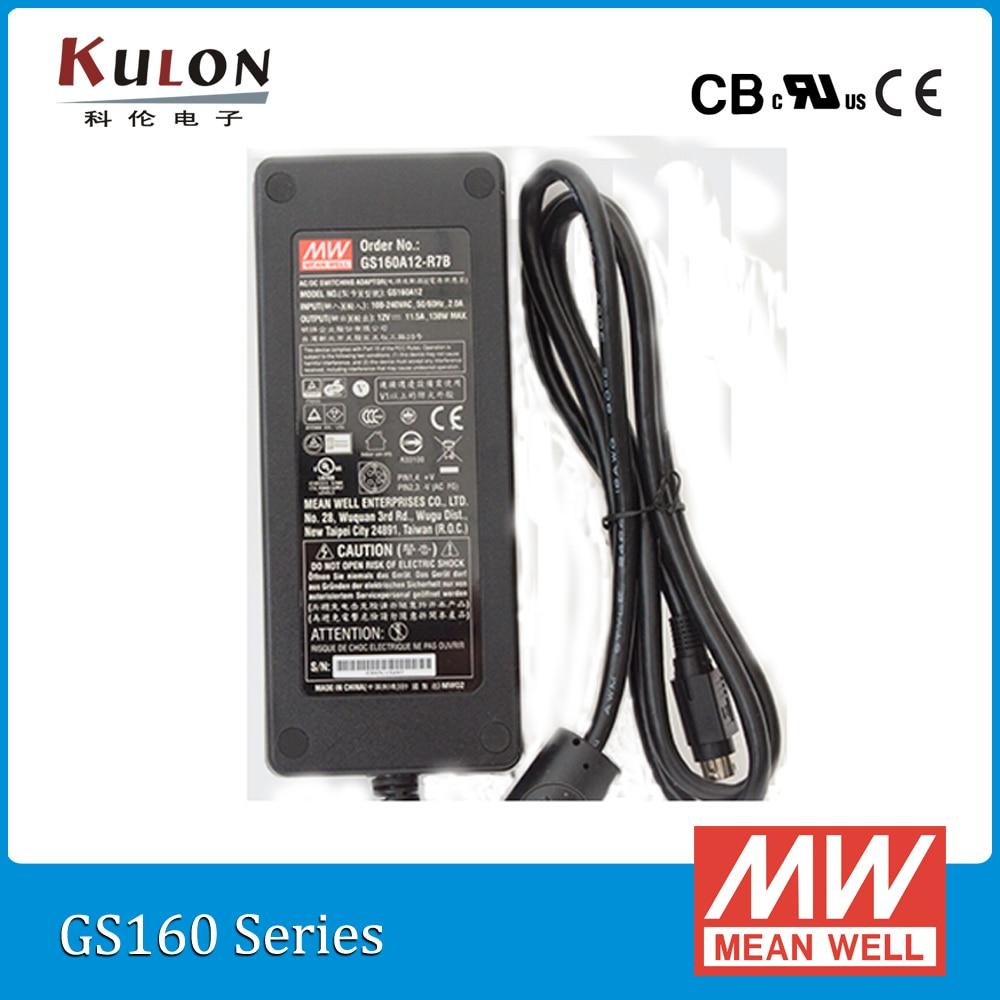 Original Mean Well GST160A48-R7B 160W 48V 3.34A AC-DC Level V Meanwell desktop Industrial Adaptor