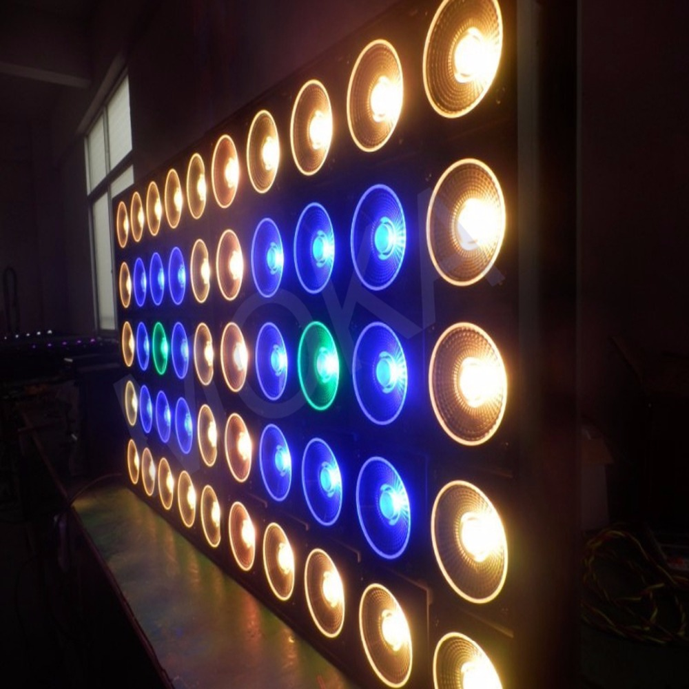 2PCS/LOT IP Rating 20 800W RGB 3 IN 1 5x5 Matrix Stage Light 30Wx25Pcs Lamps Nightclub Event Show Projector