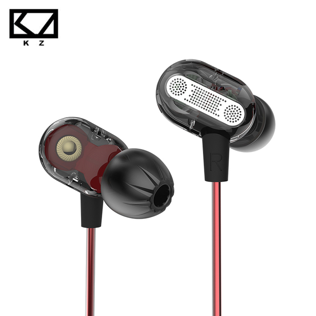 KZ ZSE Double Dynamic Earphone with Mic Hifi Heavy Bass Noise Cancelling Sport Running Earbud for Music for Samsung Xiaomi HTC