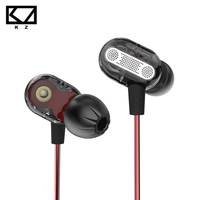 KZ ZSE Double Dynamic Earphone With Mic Hifi Heavy Bass Noise Cancelling Sport Running Earbud For