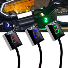Motorcycle LCD Electronics 6 Speed 1-6 Level Gear Indicator Digital Gear Meter For Harley DAVIDSON XR 1200 2008-2012 цена 2017