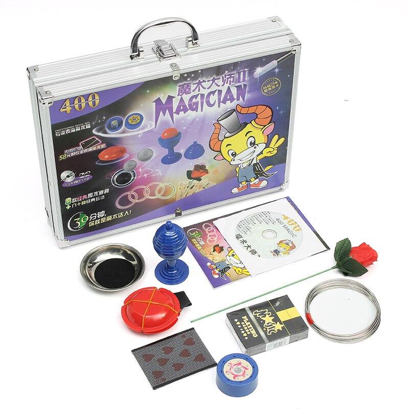 En Alliage d'aluminium Instruction Avec CD Magique Boîte Haut de Gamme Enfants Prop Ensemble Nouveauté Gags Plaisanteries Pratiques Pour Enfants Childern Jouets