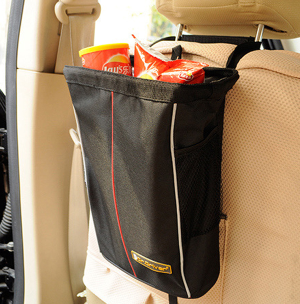 Foldable Car Auto Seat Back Snack Cans Junck Food Storage